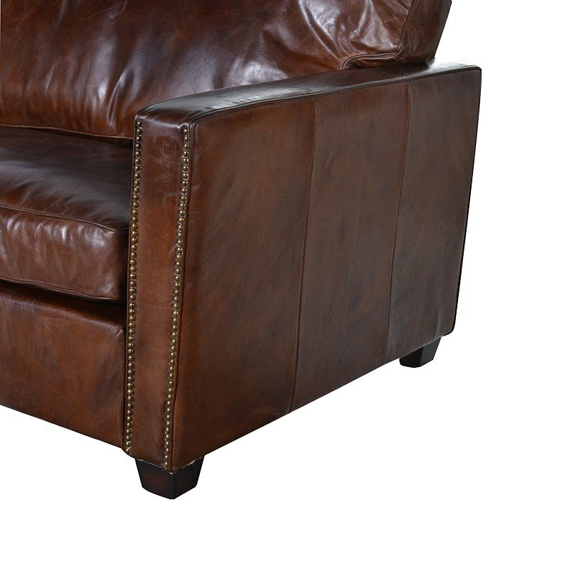 Oakham Leather 3 Seater Sofa