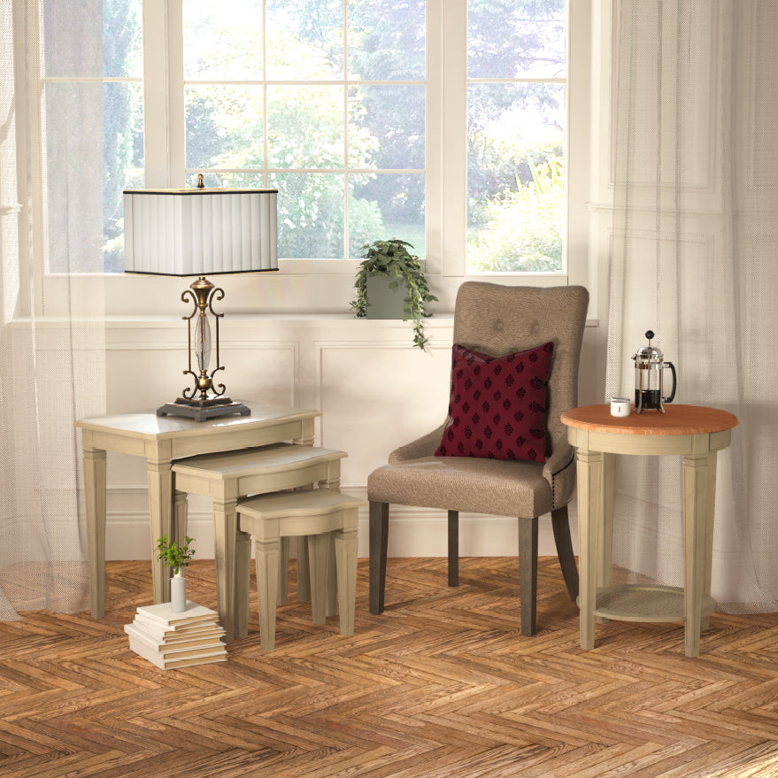 Arabella Side Table Wood Top