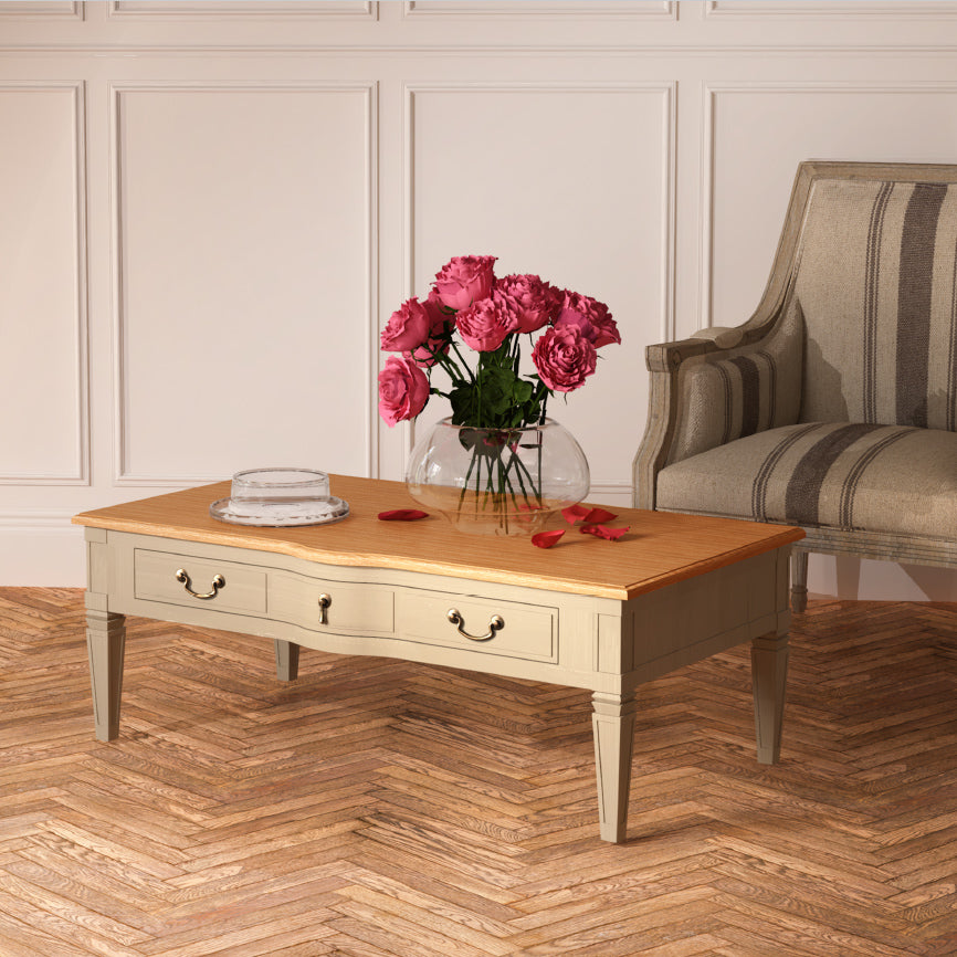 Arabella Coffee Table Wood Top