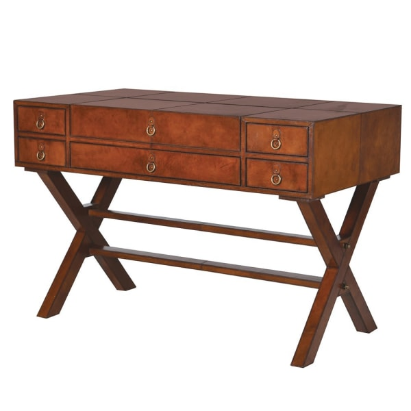 Jaipur Leather Writing Desk