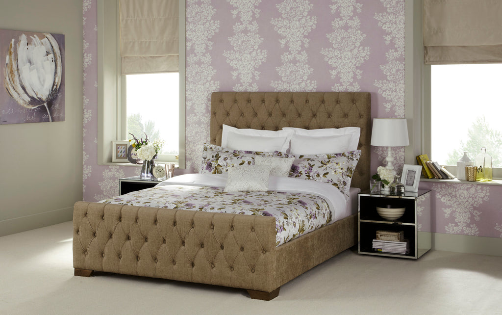 Lillian Super King Size Bed in Fudge