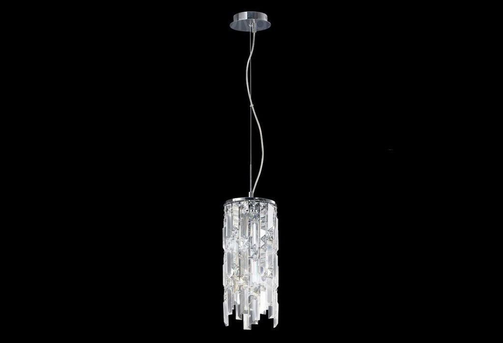 Maddison 2 Light Polished Chrome Pendant Light