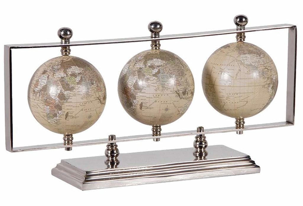 3 Globes on 'Silver' Stand