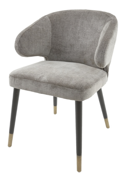 Dark Grey Chenille Dining Chair