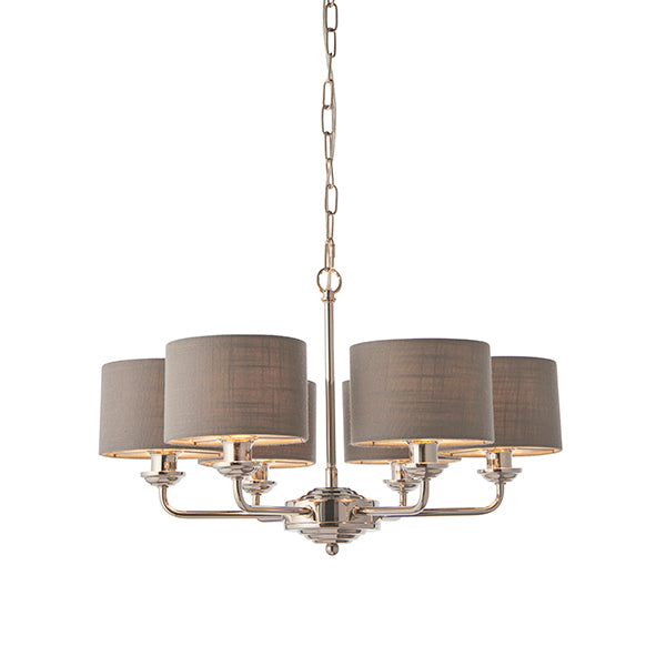 Charcoal 6 Light and Shade Ceiling Lamp