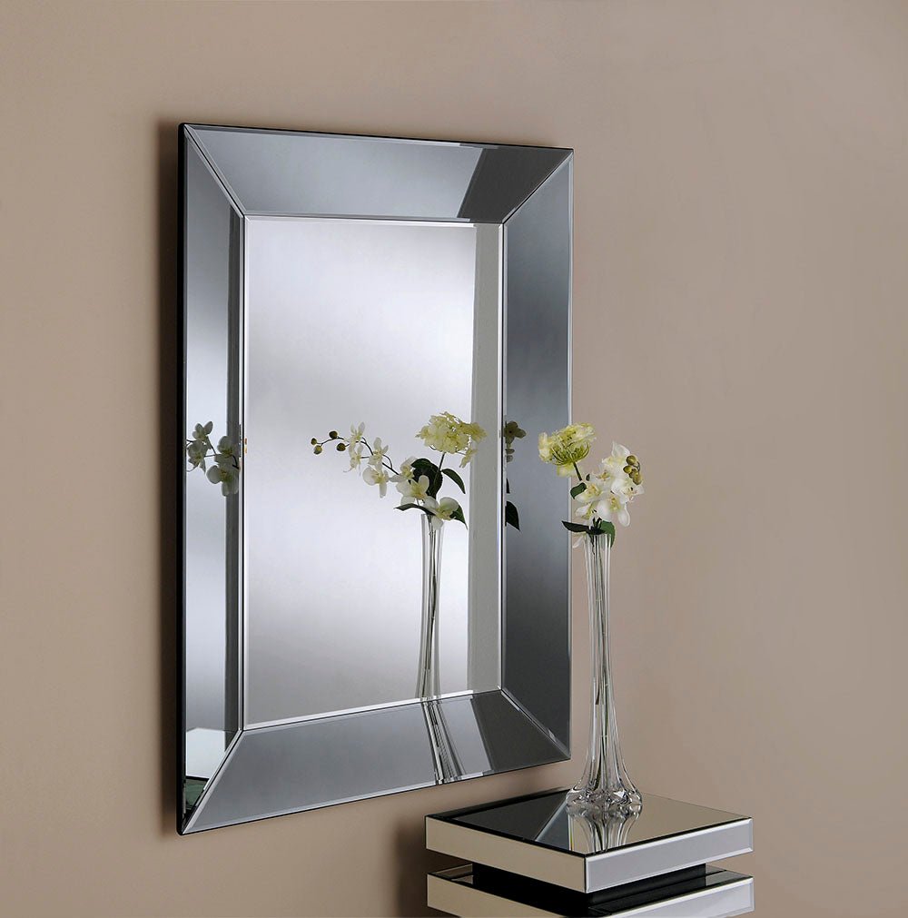 Grey Tinted Frame Wall Mirror