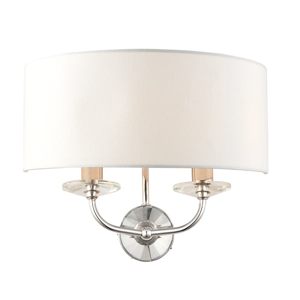 Nickel 2 Light Wall Lamp
