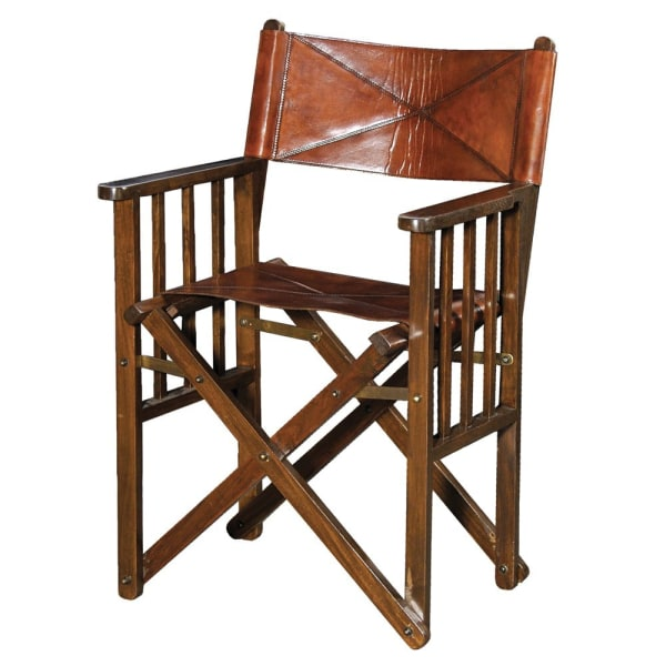 Jaipur Leather and Wood Director's Chair