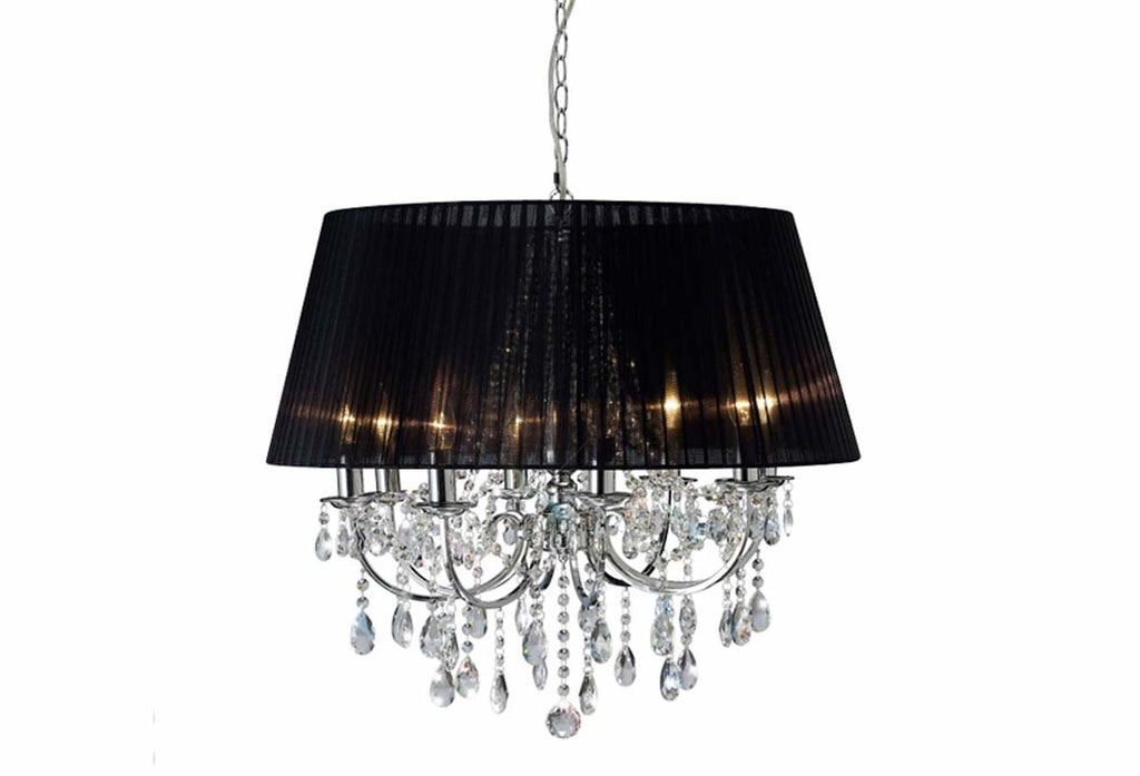 Olivia 8 Light Polished Chrome Chandelier