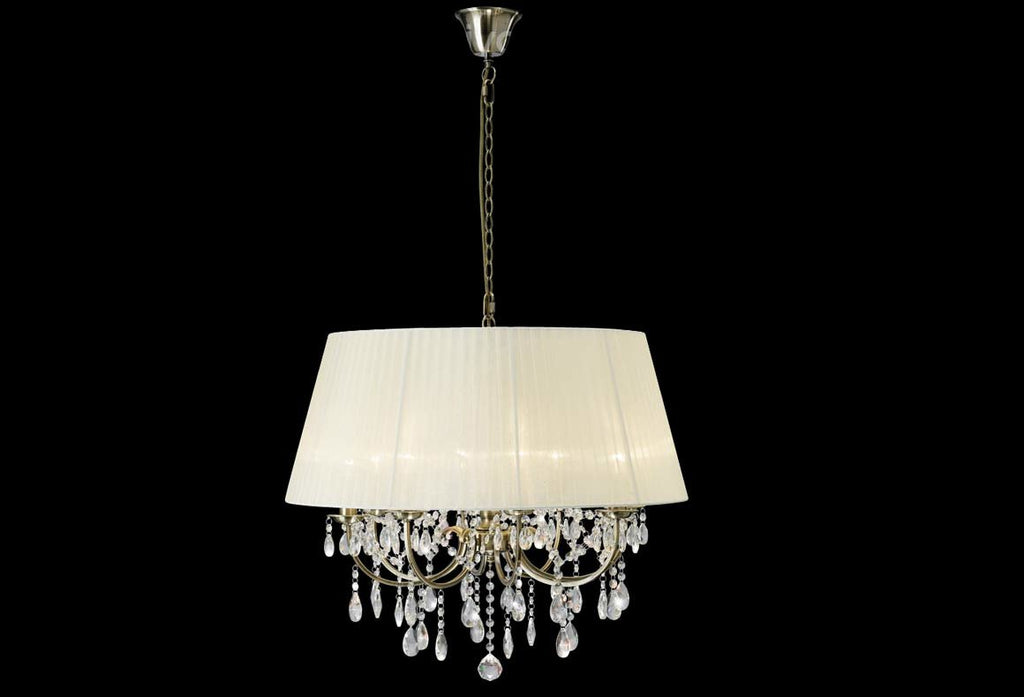 Olivia 8 Light Antique Brass Chandelier