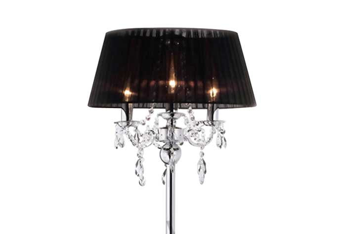 Olivia 3 Light Polished Chrome Floor Lamp
