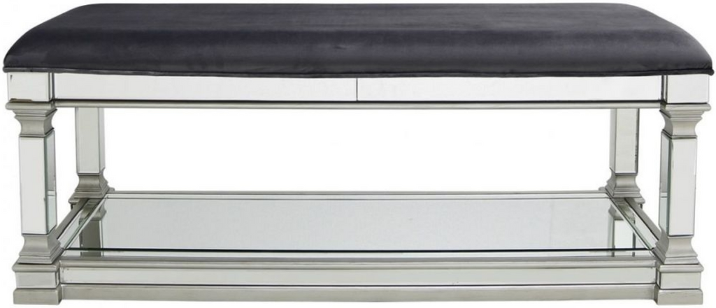 Rollo Mirrored Silver Bench