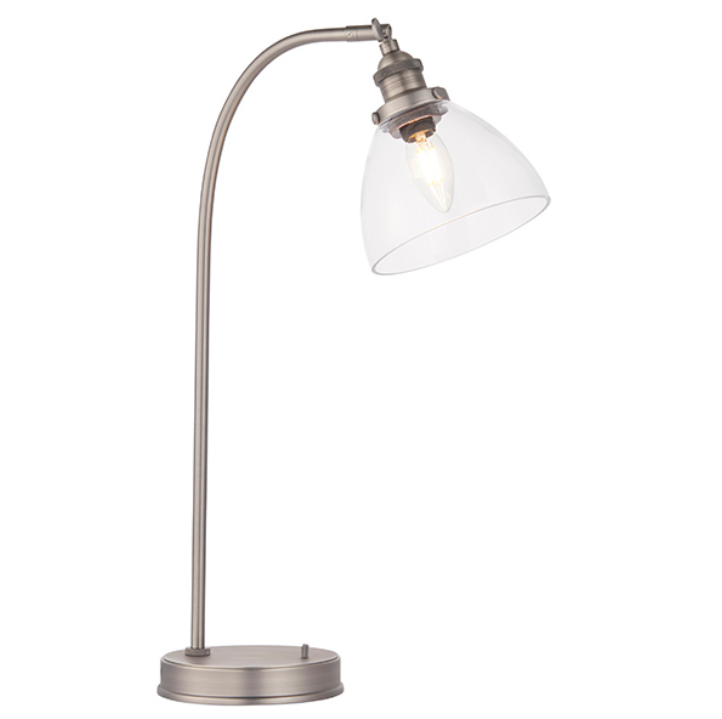 Table Lamp with Glass Shade (Different Finishes)