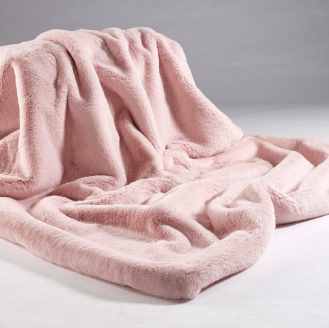 Coloured Soft Faux Fur Throws (Many Different Colours)