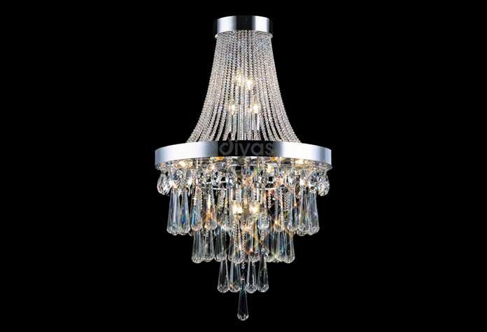 Sophia 13 Light Polished Chrome Chandelier
