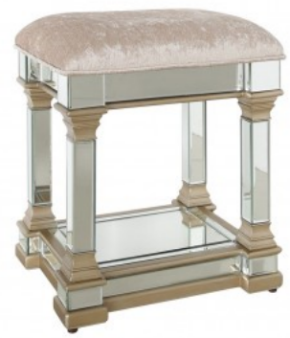 Rollo Mirrored Champagne Stool