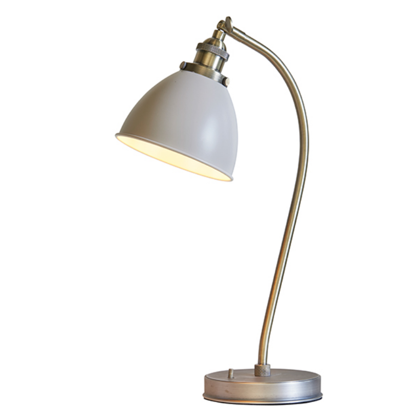 Taupe Table Lamp