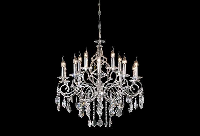 Torino 15 Light Polished Chrome Chandelier