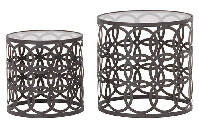 Set of 2 'Circles' Round Nesting Tables