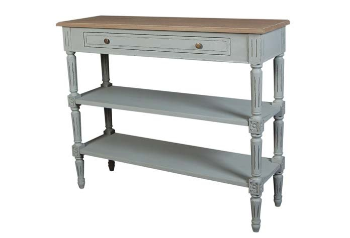 Valerie Stone Grey Console Table