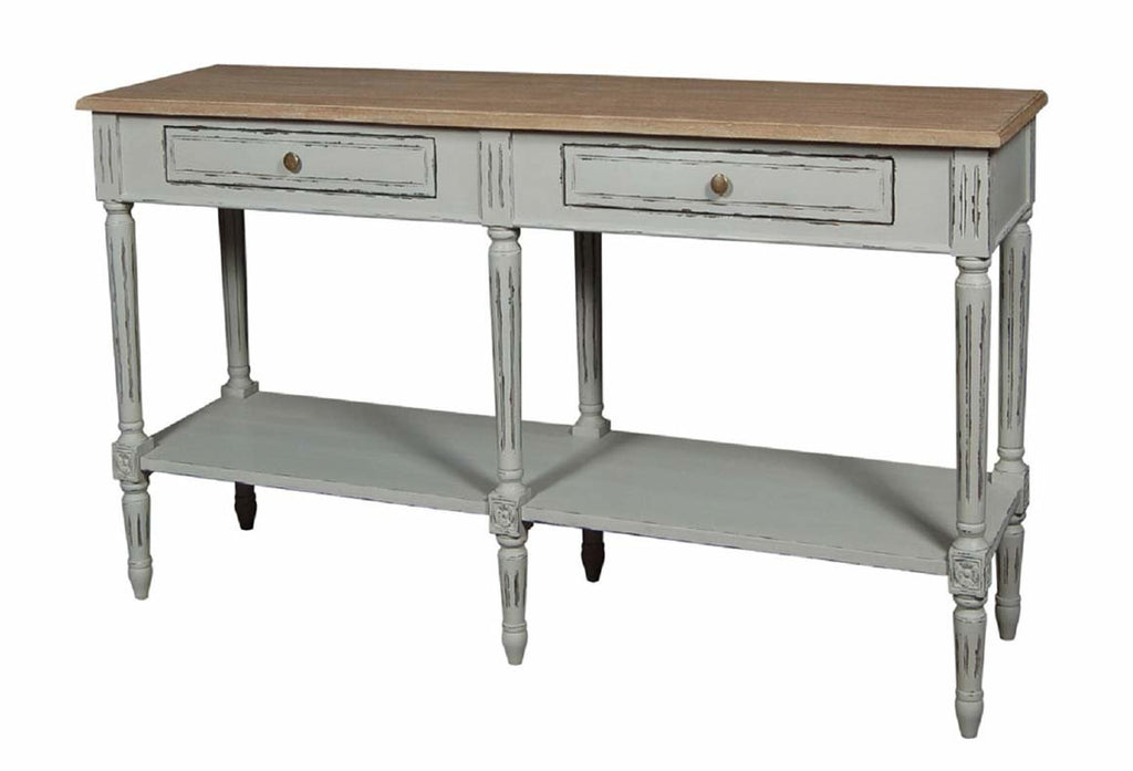 Valerie Stone Grey Double Console Table