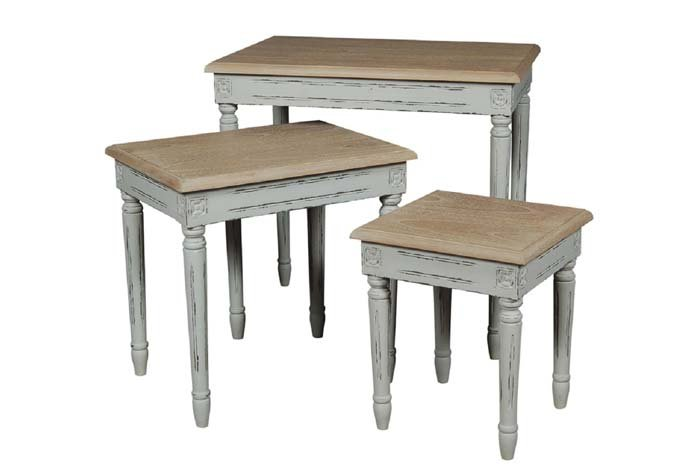 Valerie Stone Grey Nest of 3 Tables