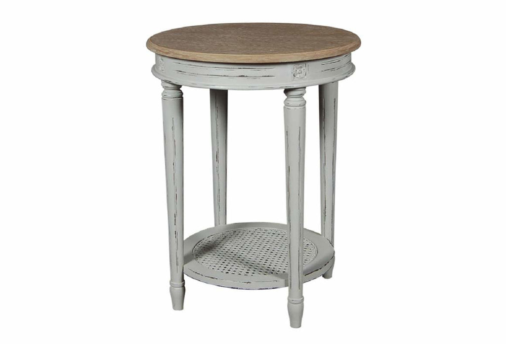 Valerie Stone Grey Round Side Table