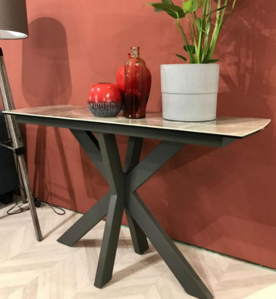 Valeria Grey Console Table