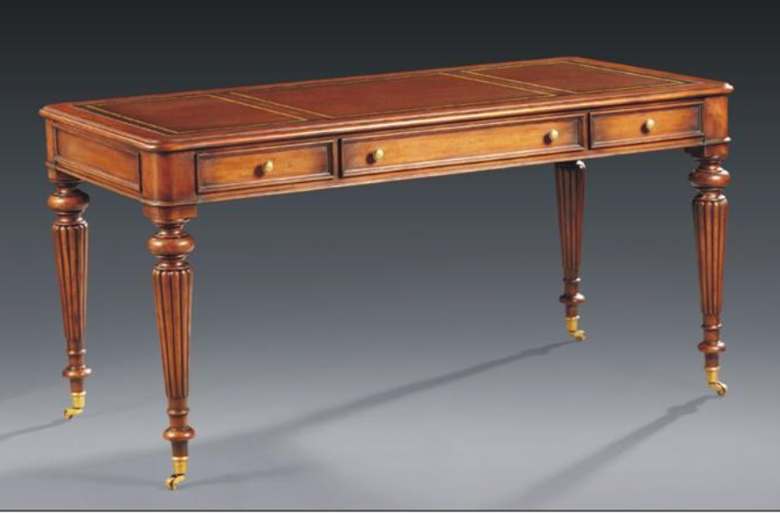 Mahogany 3 Draw Writing Desk
