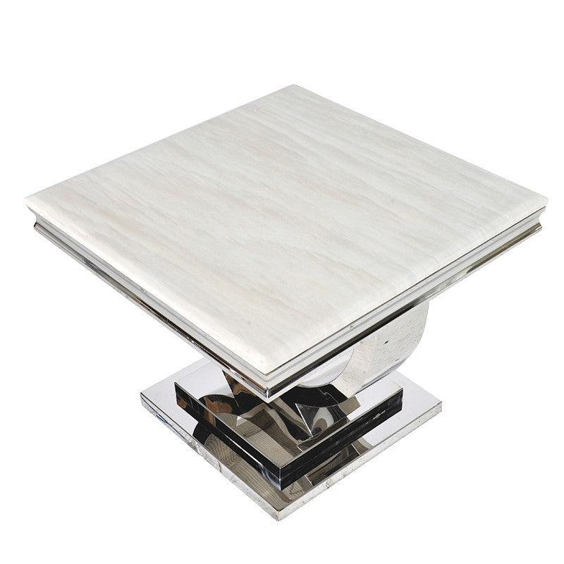 Steel & Composite Marble Side Table