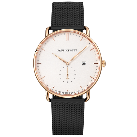 PAUL HEWITT | Orologio Grand Atlantic Line - 42 mm Rose White Mesh