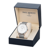 PAUL HEWITT | Orologio Grand Atlantic Line - 42 mm Silver White Mesh
