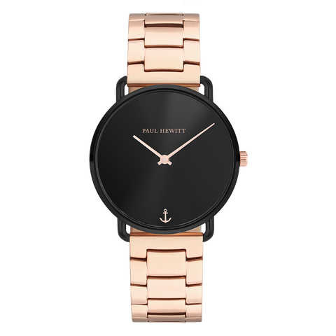 PAUL HEWITT | Orologio Miss Ocean Line - 33mm Rose Black Braccialato