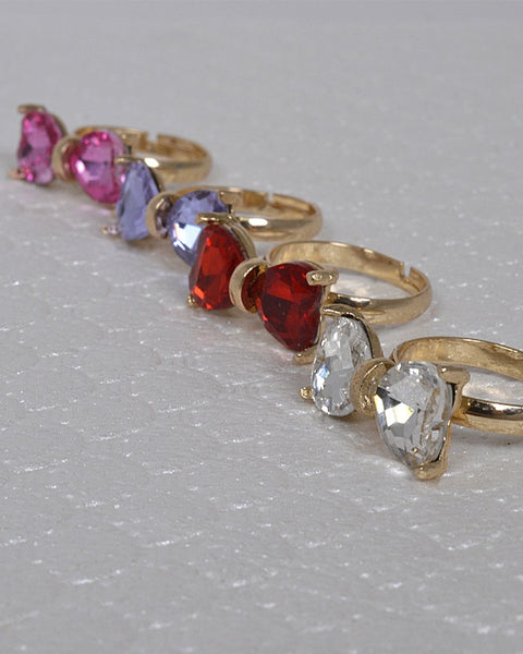 Crystal Studded Bow Shaped Ring id.31460