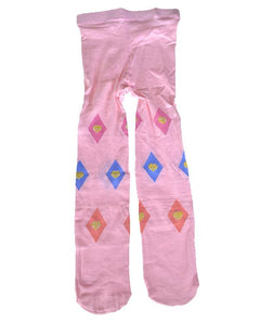 Kids Pantyhose Socks with Multicolored Print