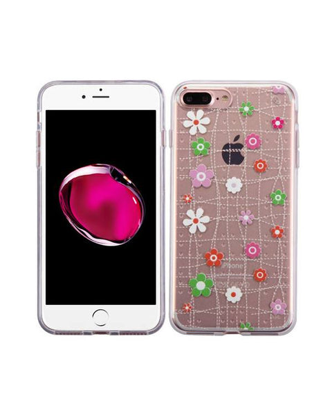IPhone 7 Plus  Tiny Blossoms Glassy SPOTS Premium Candy Skin Cover (with Package)