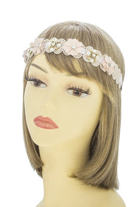 Matte lacey flower accent headband