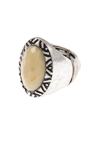 Tribal framed stretch ring