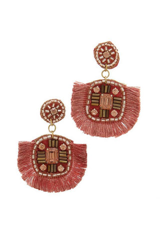 Tassel Post Drop Earring