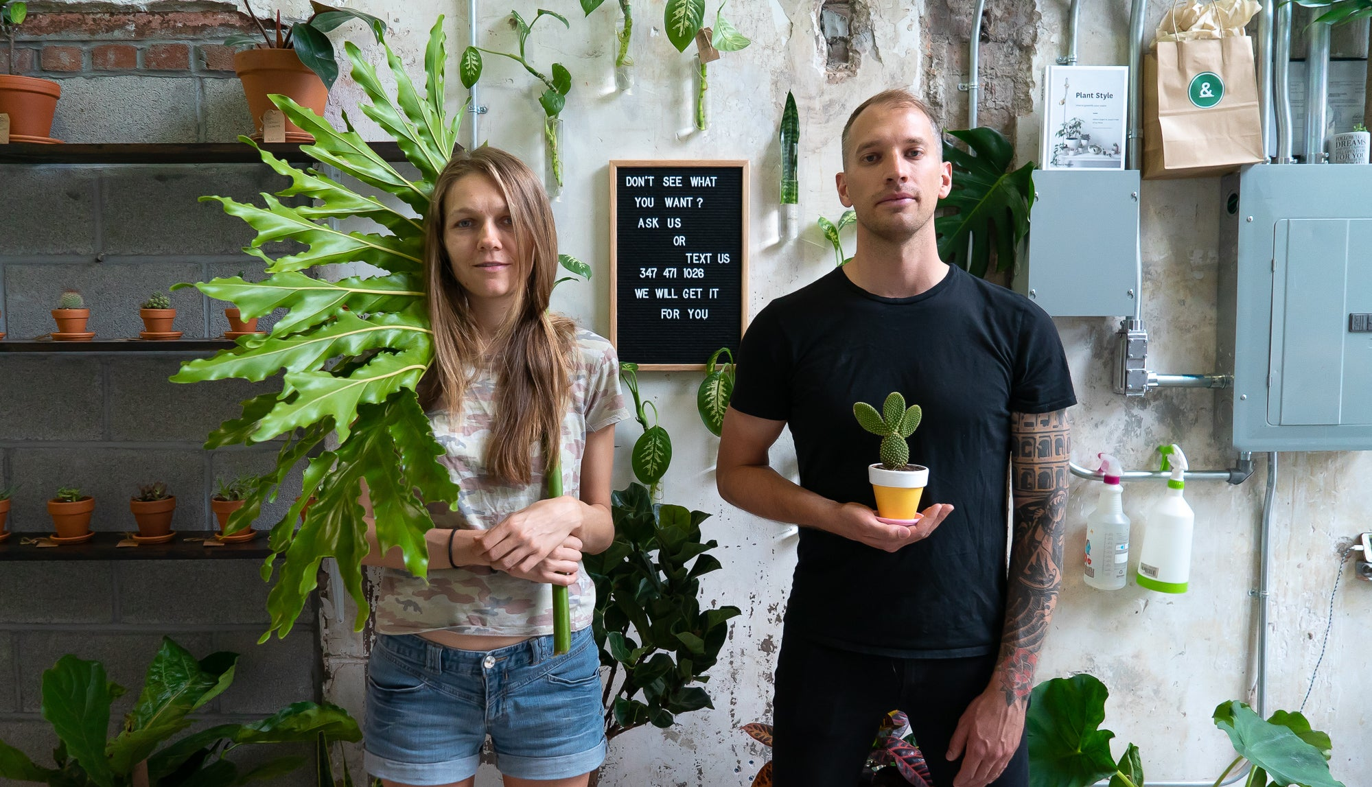 Water & Light Plant Shop founders Roy Paar and Milana Naumenko