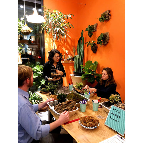 Water & Light Plant Shop's The Plant PeopleⓇ Blog with Alicia and Cielo at a plant event