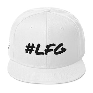 #LFG Black Logo, Round Bill Snap Back