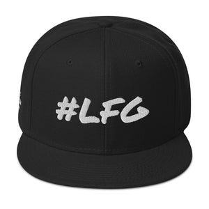 #LFG White Logo, Round Bill Snap Back