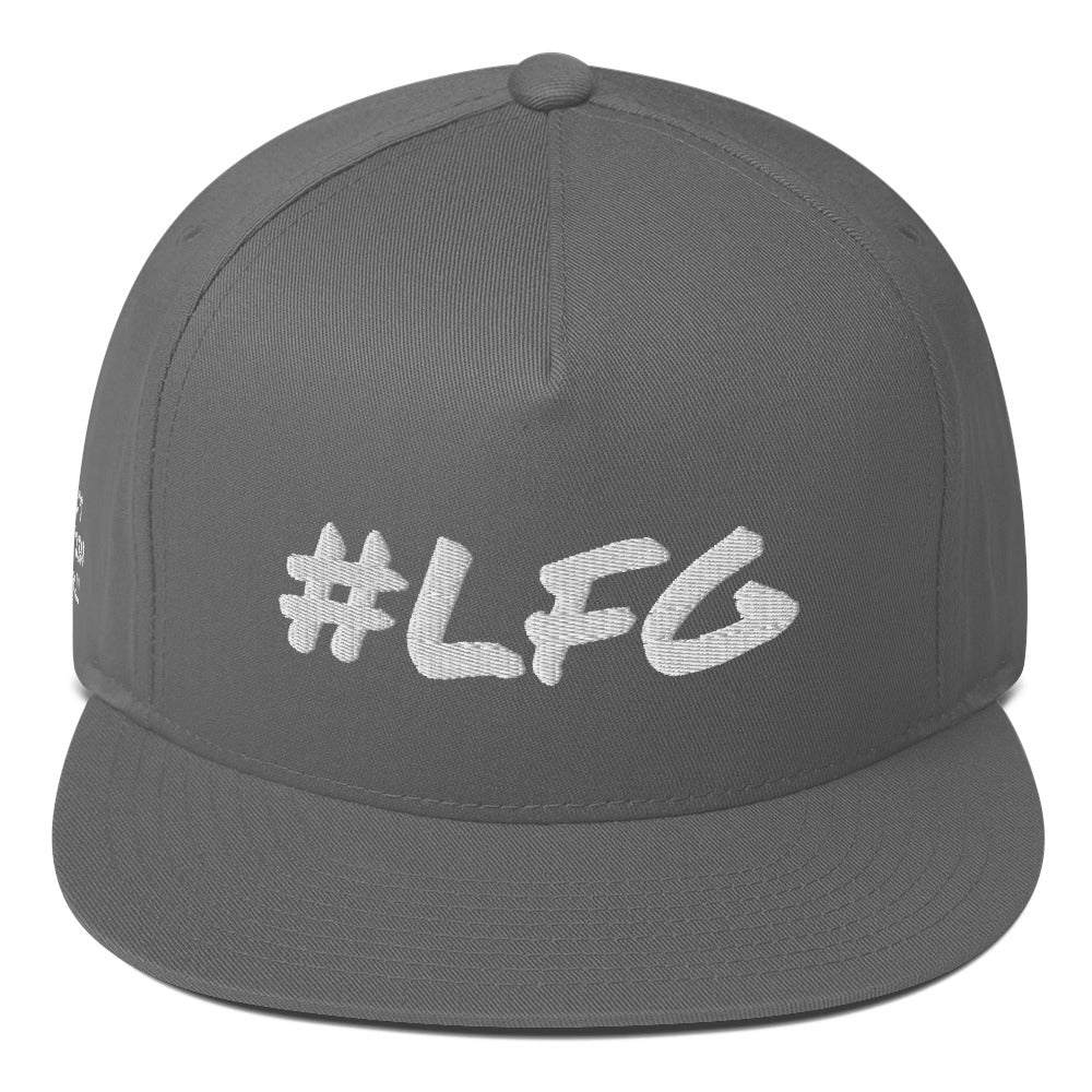#LFG White Logo, Snap Back