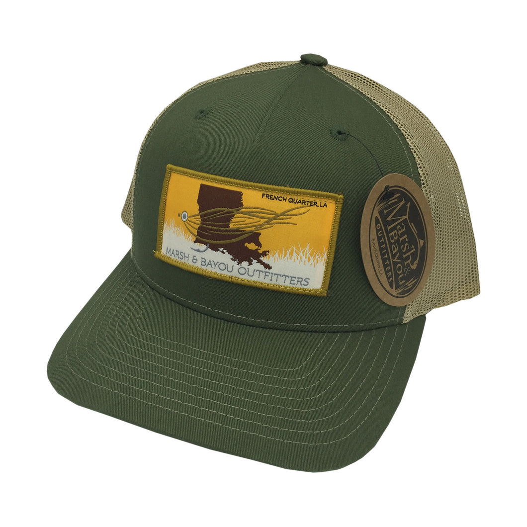 Marsh & Bayou Outfitters Fly Patch Hat | Army