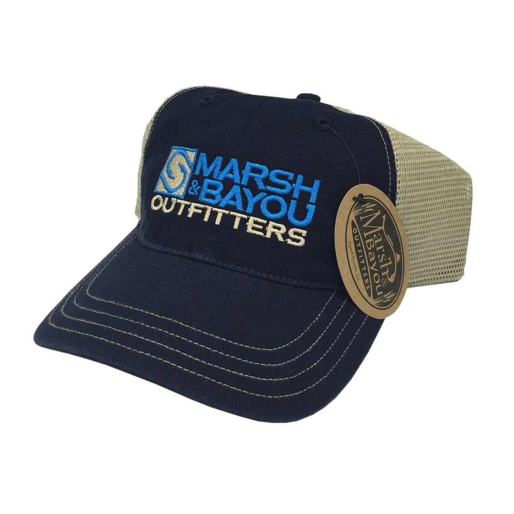 Marsh & Bayou Outfitters Hooks Logo Hat | Navy