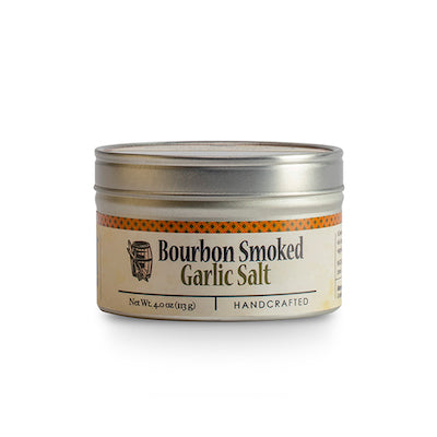 Bourbon Smoked Garlic Salt 4 oz. Tin