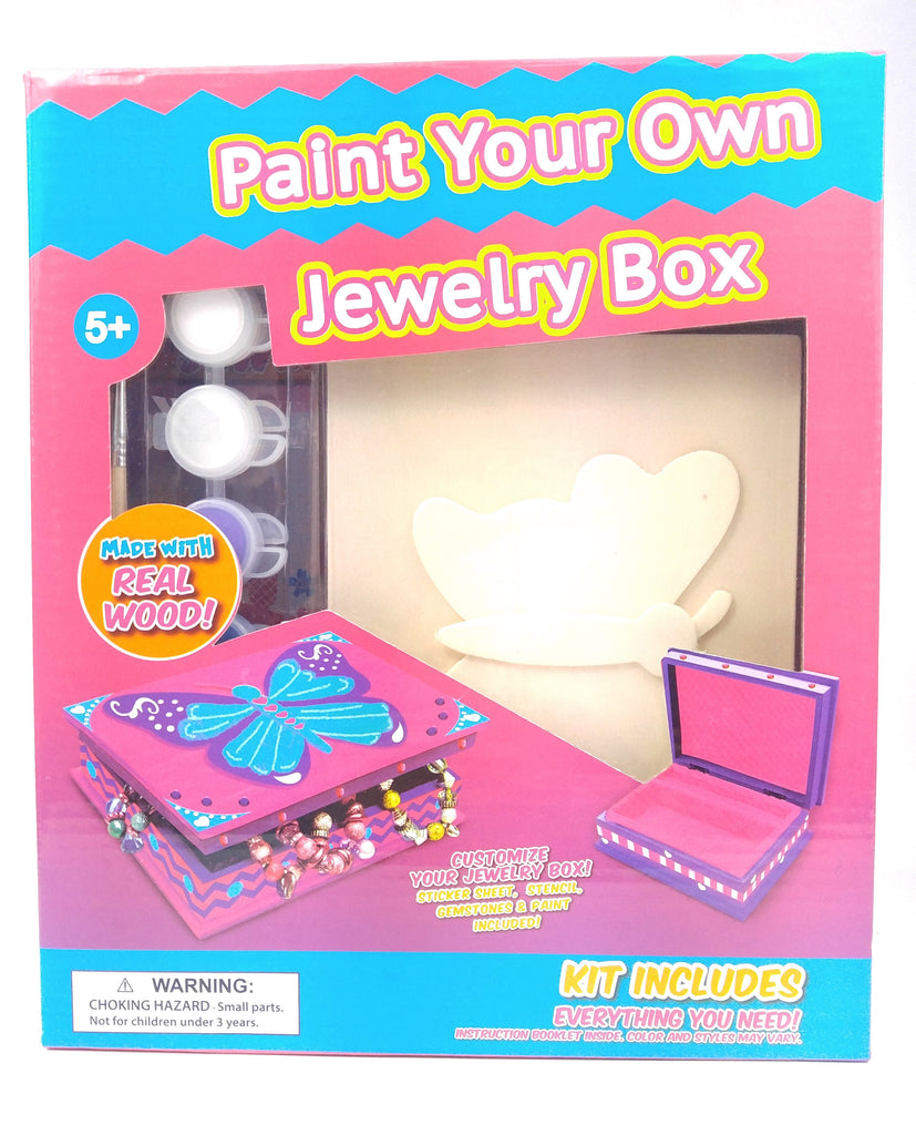 Make Your Own Wooden Jewelry Box Set