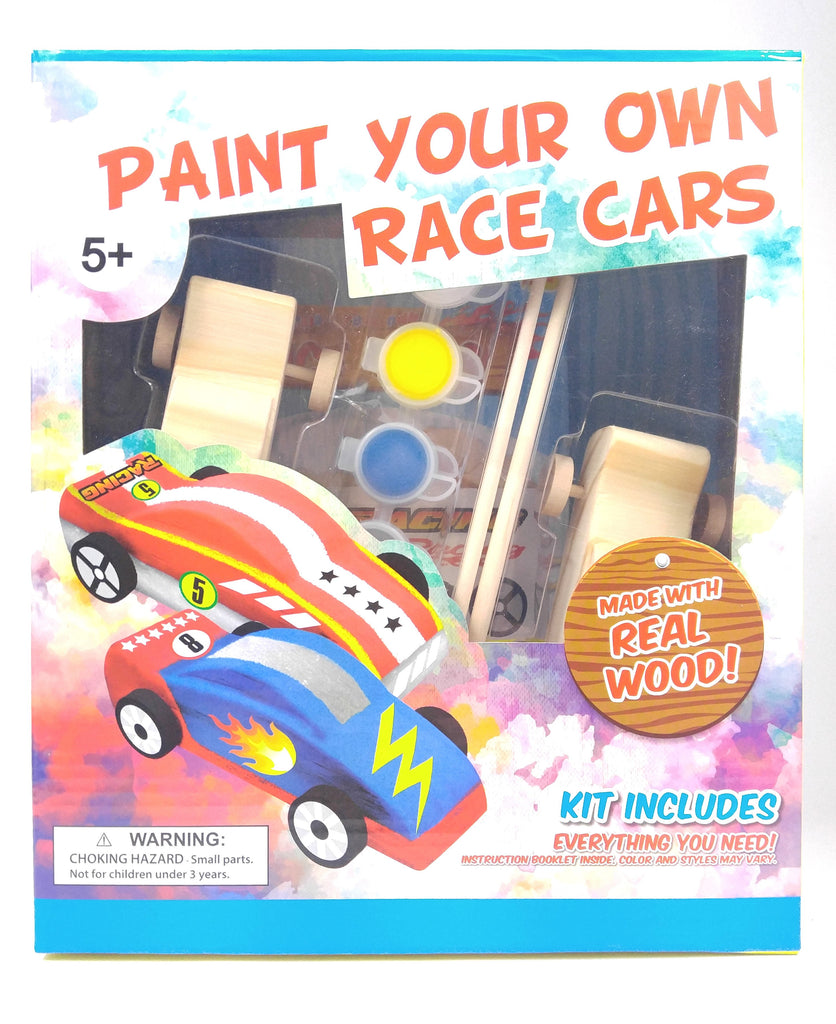 Make Your Own Wooden Race Car Set
