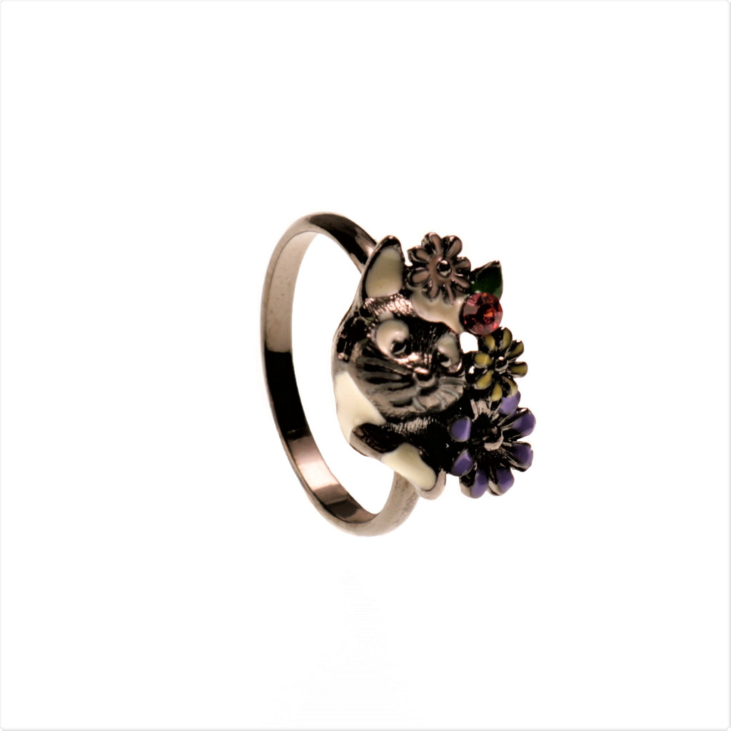 Night Baddy Cat Ring